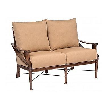 Woodard Arkadia Loveseat w/ Cushions; Brisa Distressed Chamois