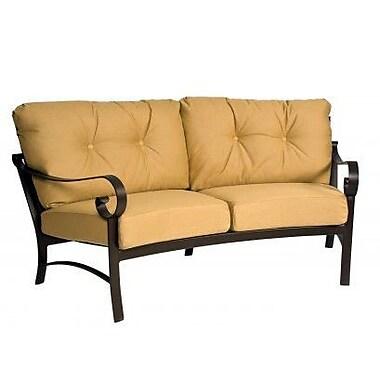 Woodard Belden Crescent Loveseat w/ Cushions; Canvas Chestnut