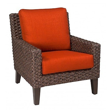 Woodard Mona Stationary Patio Chair w/ Cushions; Paris Blush