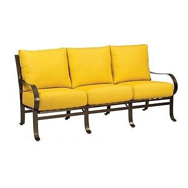 Woodard Cascade Sofa w/ Cushions; Canvas Iris