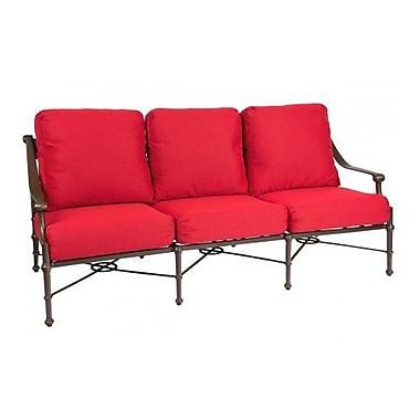 Woodard Delphi Sofa w/ Cushions; Canvas Palm
