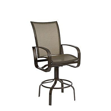 Woodard Cayman Isle Flex Swivel 29.5'' Bar Stool; Porcelain