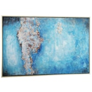 Everly Quinn 'Zephyr' Framed Painting on Wrapped Canvas