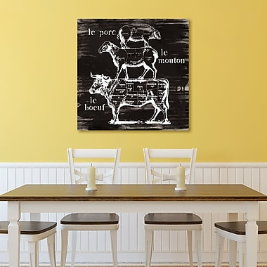 Gracie Oaks 'Butcher's Diagram' Graphic Art Print on Gallery Wrapped Canvas; 30'' H x 30'' W