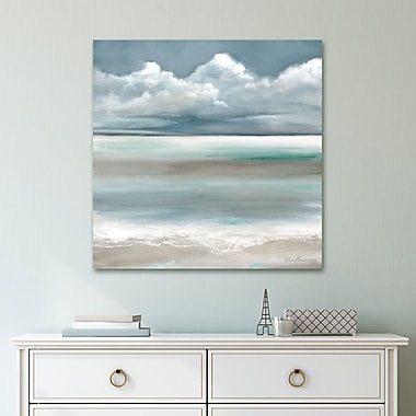 Highland Dunes 'Tranquility by the Sea I Light' Acrylic Painting Print on Gallery Wrapped Canvas
