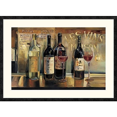 East Urban Home 'Les Vins Maison Crop' Framed Print; 24'' H x 36'' W