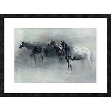 East Urban Home 'In the Mist' Framed Print; 16'' H x 24'' W