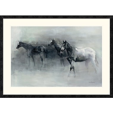 East Urban Home 'In the Mist' Framed Print; 24'' H x 36'' W