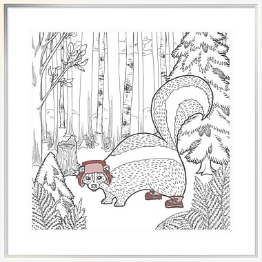 East Urban Home 'Color the Forest Color X' Framed Graphic Art Print; 24'' H x 24'' W