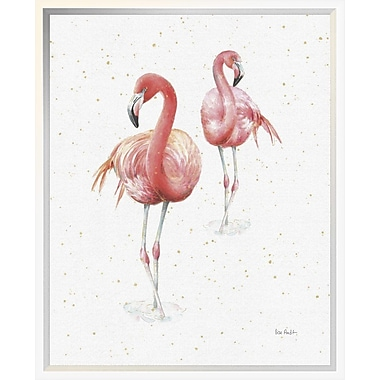 East Urban Home 'Gracefully Pink IX' Framed Print; 20'' H x 16'' W
