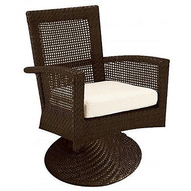 Woodard Trinidad Swivel Rocking Chair w/ Cushions; Canvas Heather Beige