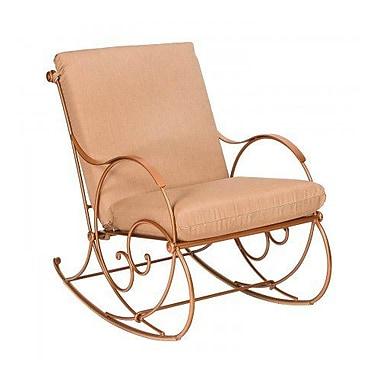 Woodard Wellington Rocking Chair w/ Cushions; Fairmount