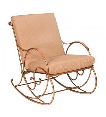 Woodard Wellington Rocking Chair w/ Cushions; Canvas Heather Beige