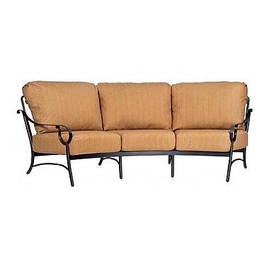Woodard Ridgecrest Crescent Sofa w/ Cushions; Paris Blush