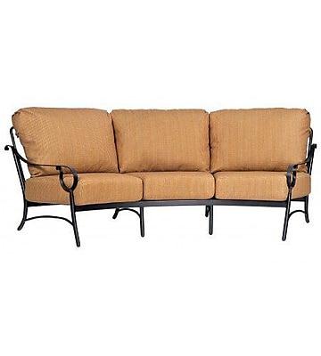 Woodard Ridgecrest Crescent Sofa w/ Cushions; Paris Honeydew