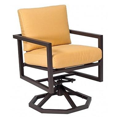 Woodard Salona Swivel Rocking Chair w/ Cushions; Brisa Distressed Chamois