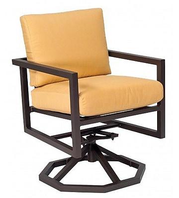 Woodard Salona Swivel Rocking Chair w/ Cushions; Axel Smoke