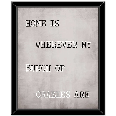 Ivy Bronx 'Crazies' Framed Textual Art on Canvas