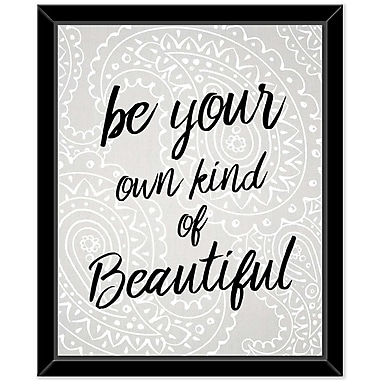 Ivy Bronx 'Be your Beautiful 2' Framed Textual Art on Canvas