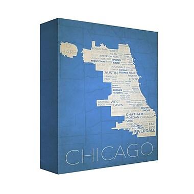Latitude Run 'Chicago in Words 6' Textual Art on Canvas