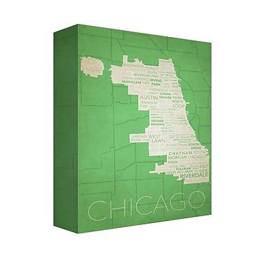 Latitude Run 'Chicago in Words 9' Textual Art on Canvas