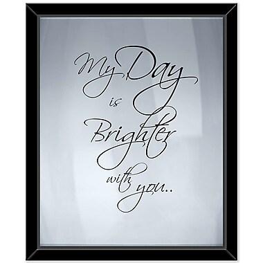 Latitude Run 'My Day' Framed Textual Art on Canvas