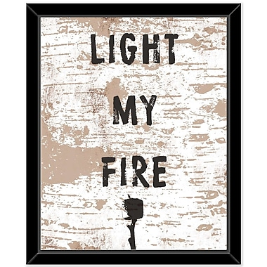 Loon Peak 'Light My Fire' Framed Textual Art on Canvas