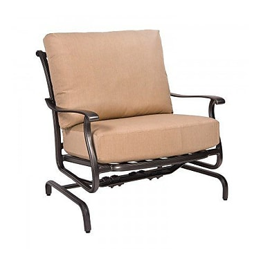 Woodard New Orleans Spring Patio Chair w/ Cushions; Canvas Heather Beige