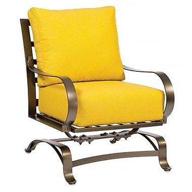 Woodard Cascade Spring Patio Chair w/ Cushions; Brisa Distressed Chamois
