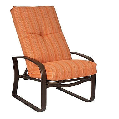 Woodard Cayman Isle Adjustable Patio Chair w/ Cushions; Brisa Distressed Chamois