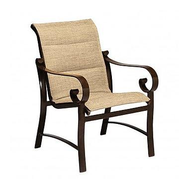 Woodard Belden Padded Sling Patio Dining Chair; Charcoal Flex Sling
