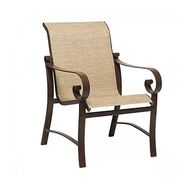 Woodard Belden Sling Patio Dining Chair; Charcoal Flex Sling