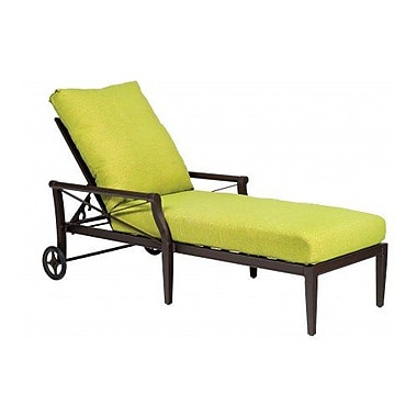 Woodard Andover Adjustable Chaise Lounge w/ Cushion; Paris Blush
