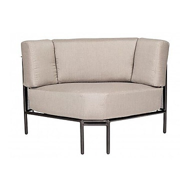 Woodard Jax Corner Sectional Piece w/ Cushions; Summit Peony