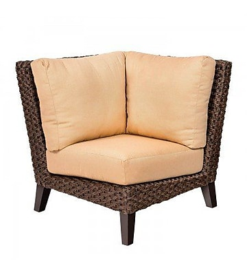 Woodard Mona Corner Sectional Piece w/ Cushions; Canvas Palm
