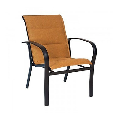 Woodard Fremont Padded Sling Patio Dining Chair; Porcelain