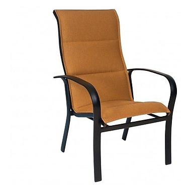 Woodard Fremont Padded Sling High-Back Stacking Patio Dining Chair; Platinum