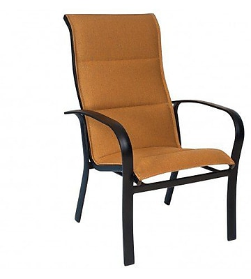Woodard Fremont Padded Sling High-Back Stacking Patio Dining Chair; Augustine Alloy
