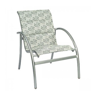 Woodard Tribeca Padded Stacking Patio Dining Chair; Augustine Alloy