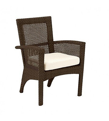 Woodard Trinidad Patio Dining Chair w/ Cushion; Canvas Chestnut