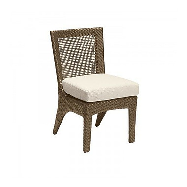 Woodard Trinidad Patio Dining Chair w/ Cushion; Canvas Navy
