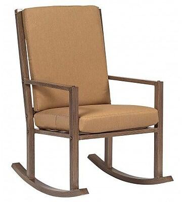 Woodard Woodlands Large Rocking Chair w/ Cushions; Axel Smoke