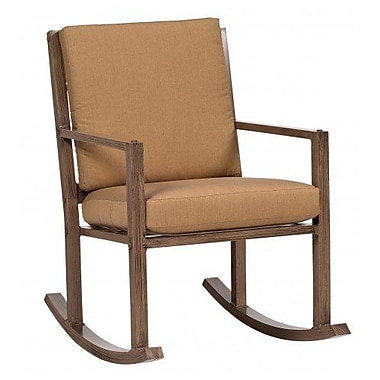 Woodard Woodlands Small Rocking Chair w/ Cushions; Summit Peony
