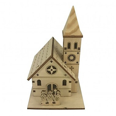 The Holiday Aisle 100pct Plywood Small House w/ Lights