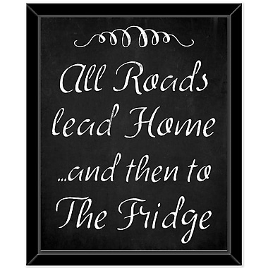 Red Barrel Studio 'The fridge' Framed Textual Art on Canvas