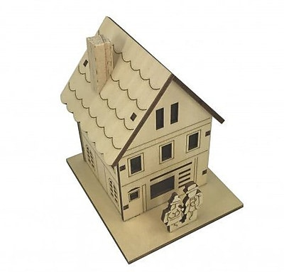 The Holiday Aisle Plywood Small House w/ Lights