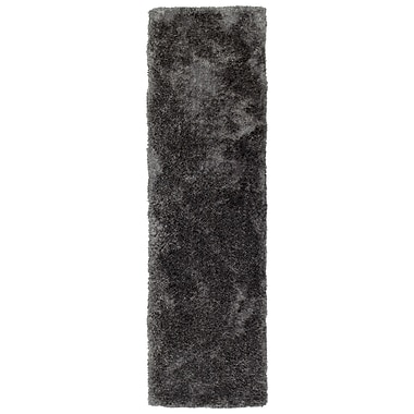 Ebern Designs Bieber Charcoal Area Rug; Runner 2'3'' x 8'