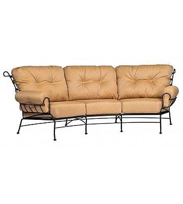 Woodard Terrace Crescent Sofa w/ Cushions; Summit Spark