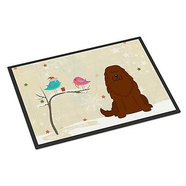 Caroline's Treasures Christmas Presents Between Friends Caucasian Shepherd Dog Doormat