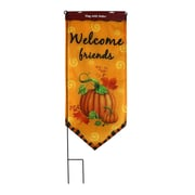 Jeco Inc. Welcome Friends Harvest Garden Flag w/ Stake